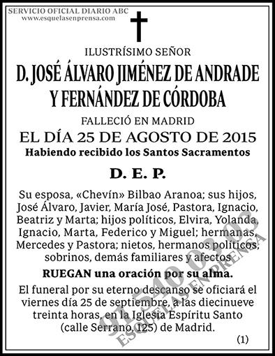 José Álvaro Jiménez de Andrade y Fernández de Córdoba